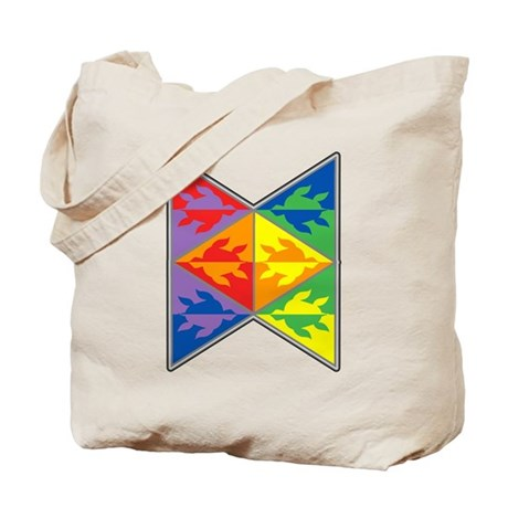Rainbow Triangle Turtles Tote Bag
