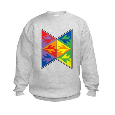 Rainbow Triangle Turtles Kids Sweatshirt