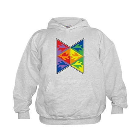 Rainbow Triangle Turtles Kids Hoodie