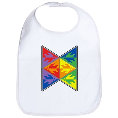 Rainbow Triangle Turtles Bib