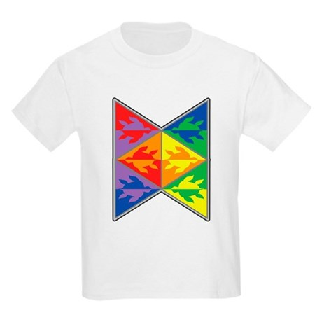 Rainbow Triangle Turtles Kids Light T-Shirt