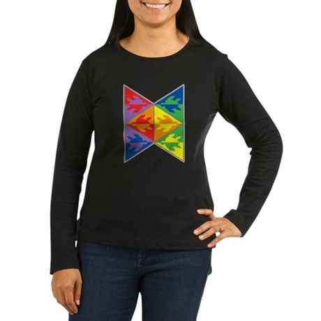 Rainbow Triangle Turtles Women's Long Sleeve Dark