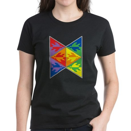 Rainbow Triangle Turtles Women's Dark T-Shirt
