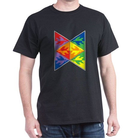 Rainbow Triangle Turtles Dark T-Shirt