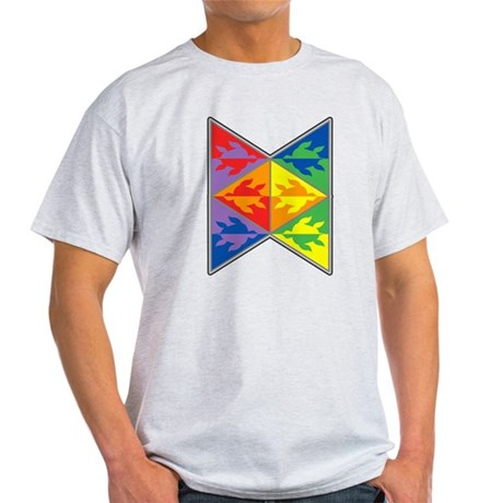 Rainbow Triangle Turtles Light T-Shirt