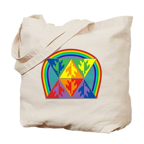 Turtle Triangle Rainbow Tote Bag