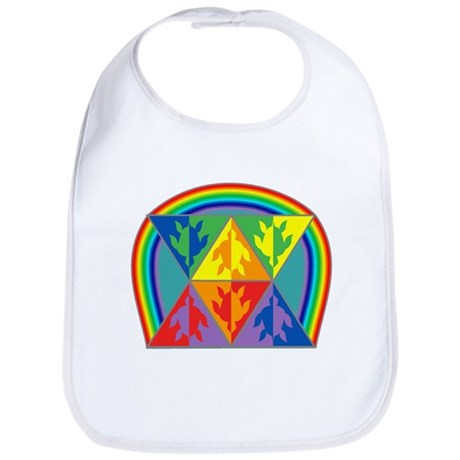 Turtle Triangle Rainbow Bib