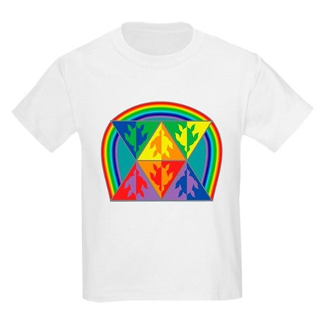 Turtle Triangle Rainbow Kids Light T-Shirt