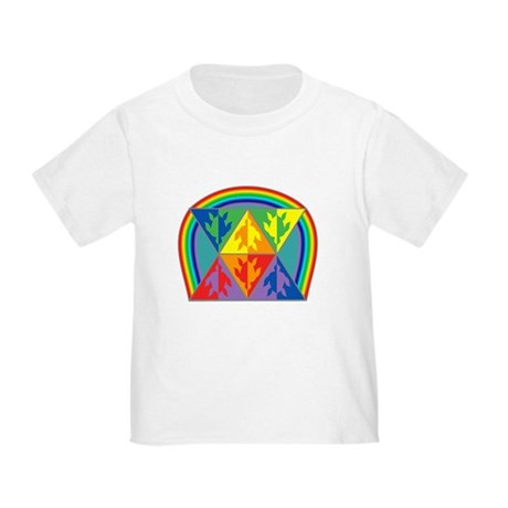 Turtle Triangle Rainbow Toddler T-Shirt