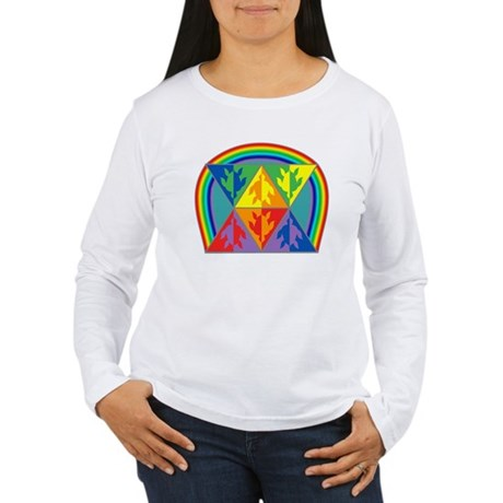 Turtle Triangle Rainbow Women's Long Sleeve T-Shir