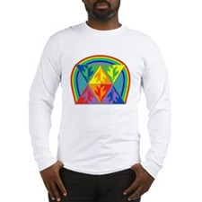 Turtle Triangle Rainbow Long Sleeve T-Shirt