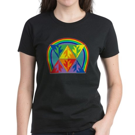 Turtle Triangle Rainbow Women's Dark T-Shirt