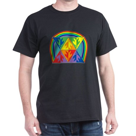 Turtle Triangle Rainbow Dark T-Shirt