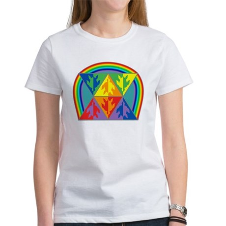 Turtle Triangle Rainbow Women's T-Shirt