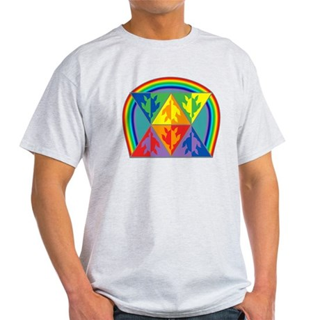 Turtle Triangle Rainbow Light T-Shirt