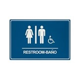 Restroom Bano Servicios Rectangle Magnet (10 pack)
