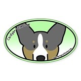 Anime BT Cardigan Welsh Corgi Oval Decal