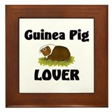 Guinea Pig Lover Framed Tile