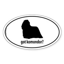 Got Komondor? Oval Decal