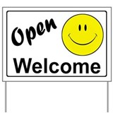 Smiley Face Welcome Yard Sign