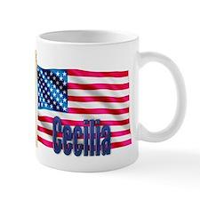 Cecilia American Flag Gift Mug