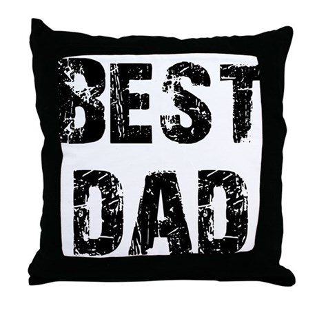 Father's Day Best Dad Throw Pillow