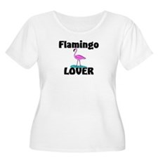 Flamingo Lover Women's Plus Size Scoop Neck T-Shir