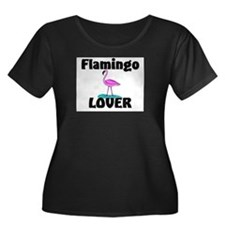 Flamingo Lover Women's Plus Size Scoop Neck Dark T