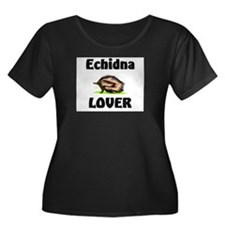 Echidna Lover Women's Plus Size Scoop Neck Dark T-