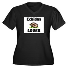Echidna Lover Women's Plus Size V-Neck Dark T-Shir