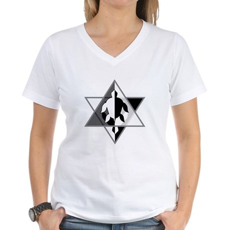 Star Turtle Women's V-Neck T-Shirt