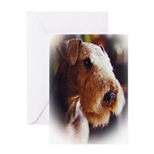 Airedale sympathy Greeting Card