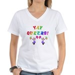Queer Cheer Women's V-Neck T-Shirt