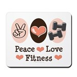 Peace Love Fitness Mousepad