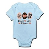 Peace Love Fitness Infant Bodysuit