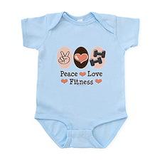 Peace Love Fitness Infant Bodysuit