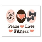Peace Love Fitness Small Poster