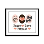 Peace Love Fitness Framed Panel Print