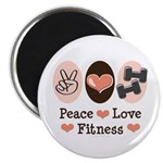 Peace Love Fitness Magnet
