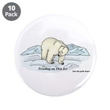 "Save the Polar Bears 3.5"" Button (10 pack)"