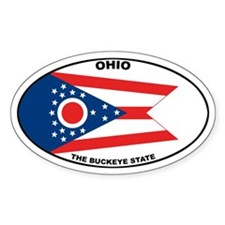 Ohio State Flag Oval Decal