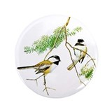 Chickadee Art 3.5&quot; Button (100 pack)