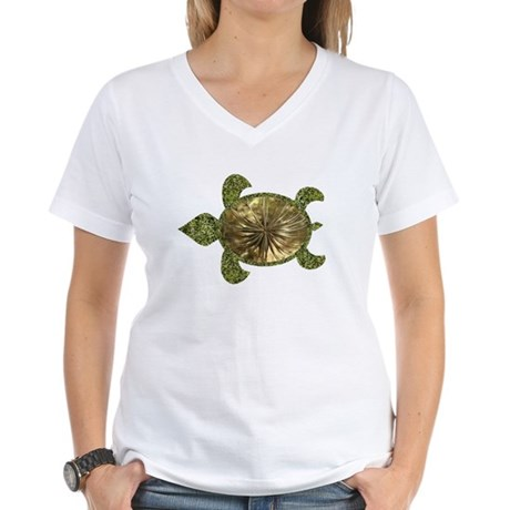 Garden Turtle Women's V-Neck T-Shirt
