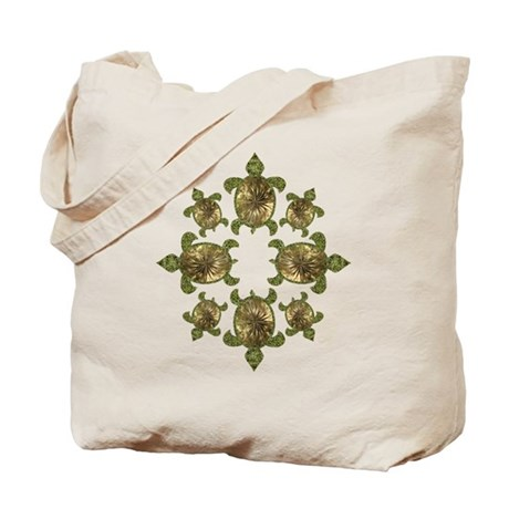 Garden Turtles Tote Bag