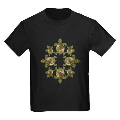 Garden Turtles Kids Dark T-Shirt