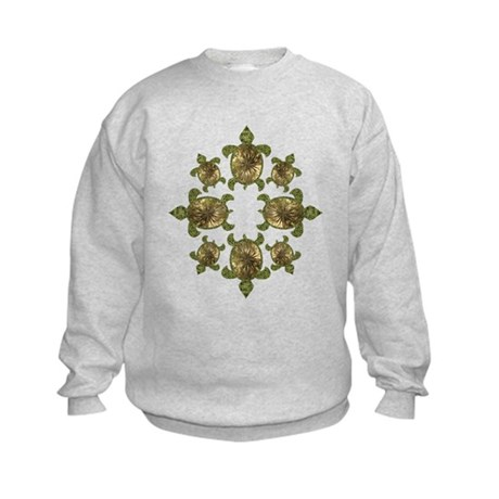 Garden Turtles Kids Sweatshirt