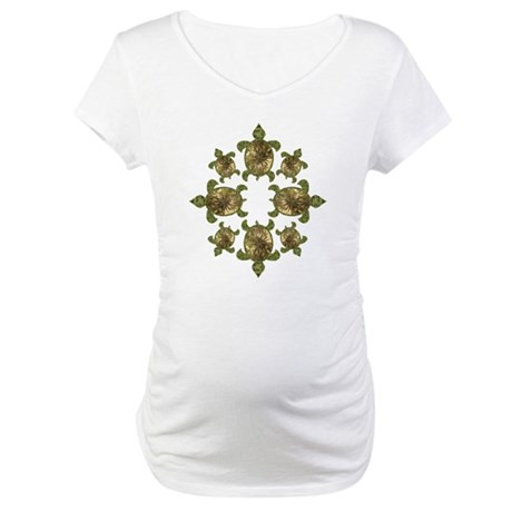 Garden Turtles Maternity T-Shirt