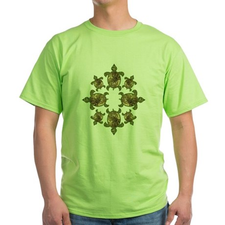 Garden Turtles Green T-Shirt
