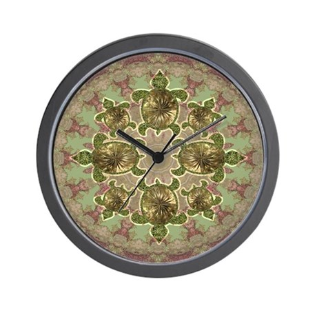 Garden Turtles Wall Clock