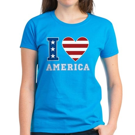 I Love America Women's Dark T-Shirt